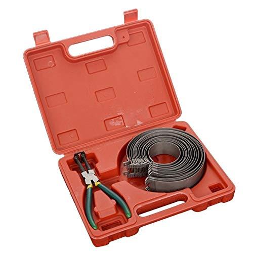 SNUIX 14 Anillos de aros de pistón compresor alicates abrazadera, extractor del motor Herramienta Cilindro instalador Ratchet los alicates (Caso plástico con 14 anillos)