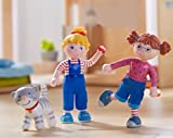 Haba Little Friends Conni Anna Kater Mau Geschenkset 3-teilig Biegepuppen Minipuppen Katze