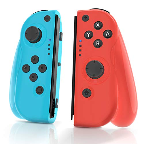 MAXKU Wireless Controller für Nintendo Switch, 2er-Set Links Rechts Replacement Joystick für Joy Con Kabelloser Bluetooth Pro Game Gamepad Joypad Joystick Switch Controller