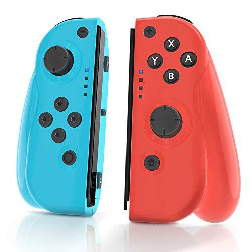 MAXKU Manette Switch, Manette sans Fil pour Nintendo Switch, lot de 2 manettes de Remplacement Gauche Droite pour Joy Con Wireless Bluetooth Pro Gamepad Joypad Joystick Switch Controller