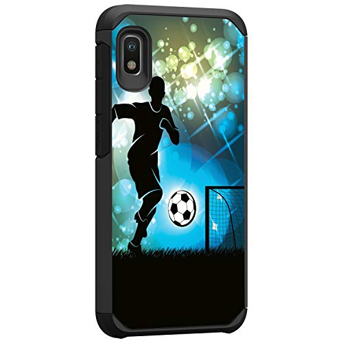 TurtleArmor   Compatible with Samsung Galaxy A10e Case   Samsung Galaxy A20e Case   Hard Shell Hybrid Fitted TPU Case Sports and Games Design - Soccer Player Graphic