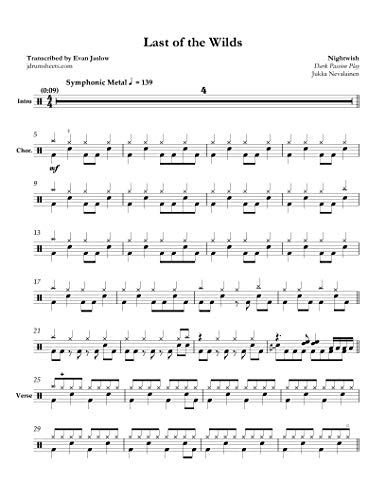 Nightwish - Last of the Wilds: Drum Sheet Music (English Edition)