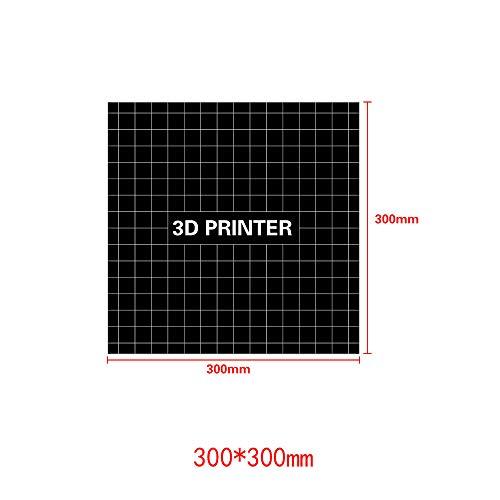 Duurzame anti-warping Hot Bed Vierkante plaat Tape Gereedschap Platform Paster 3D Printer Deel Zwart Sticker, 300X300mm, 123