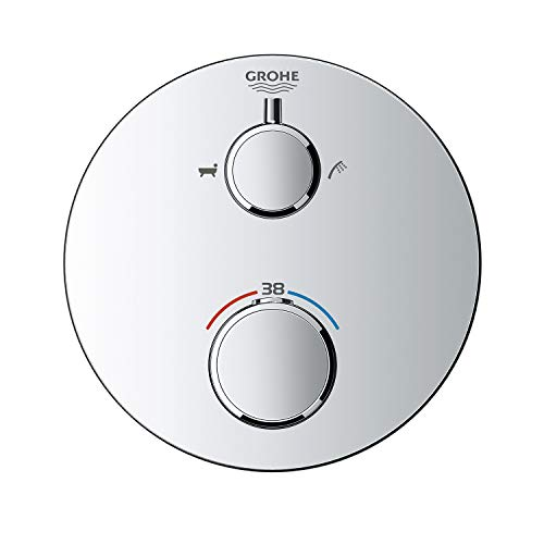 GROHE 24075000 thermostaat douche-accu, chroom Thermostaat-badmengkraan. mit Umstellung Rond design.