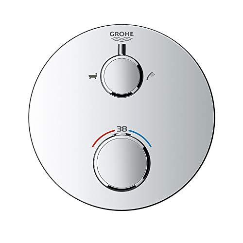 GROHE Grohtherm | Thermostat-Wannenbatterie mit integrierter 2-Wege-Umstellung | Chrom | 24077000