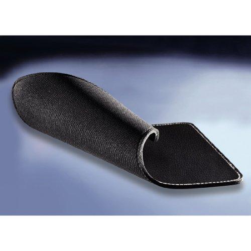 Hama Mauspad (22 x 18 cm, Office Mousepad in Leder Optik, Optimale Gleitfähigkeit, Rutschfeste Unterseite) schwarz - 2