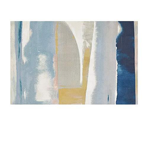 XJKLFJSIU-Rug Alfombra De Diseño De Color Pintado Abstracto para Sala