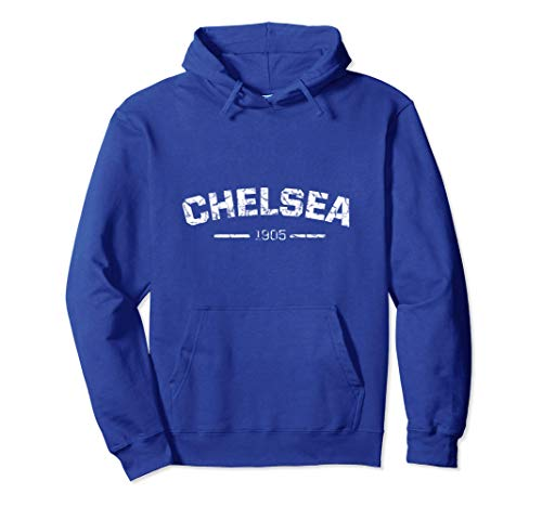 Retro Chelsea Soccer Jersey London Blues Vintage Design Pullover Hoodie