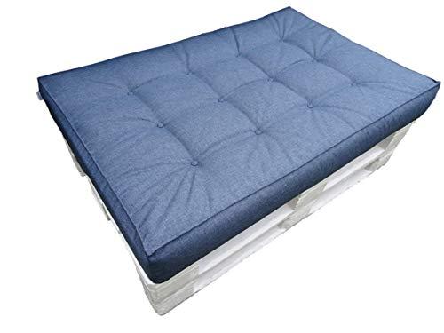 Sitzkissen 120x80x15 LUX für Standardpaletten und passt für die meisten Palettensätze Dieser Art. Hergestellt aus hochwertigem Polyester/Imprägniermittel (Marineblau)