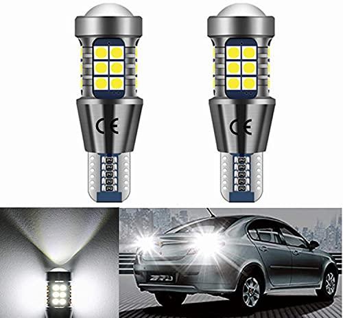 T15 W16W LED Canbus Lampadina 12V 24V 912 921, Con Obiettivo Per Proiettore, per RV Interna Illuminazione Auto LED Luce Posteriori Retromarcia Parcheggio Luci Bianco 6500K. 2 Pezzi.