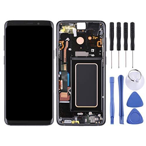 Reparatie reserveonderdelen vervangend LCD-scherm en Digitizer volledige montage met frame voor Galaxy S9+ / G965F / G965F / DS / G965U / G965W / G9650 (zwart), Zwart
