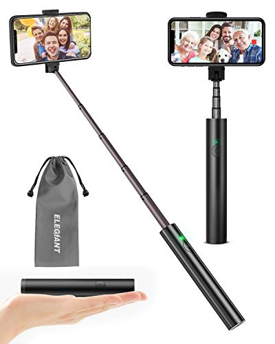 ELEGIANT Selfie Stick Bluetooth, Extendable Selfie Stick Lightweight Aluminum All in One Compact Design for iPhone 11 11 Pro 11 Pro Max X XR XS MAX 8 7 6 Plus, Samsung S10 S9 S8 S7 S6, Huawei and More