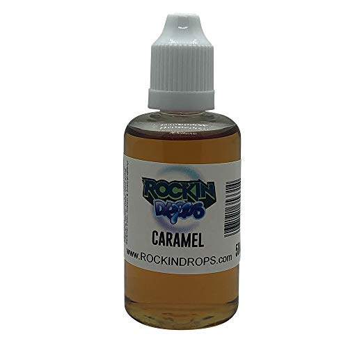 RockinDrops CARAMEL Food Flavoring Concentrate (50ml)- Flavoring Extract For Candy Flavoring, Cake Flavors, Flavorings For Baking, Lipgloss Flavors- Vegan-Keto Friendly