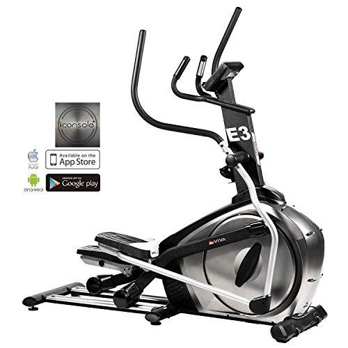 AsViva Ellipsentrainer Ergometer Cardio E2 Elliptical - Elíptica de Fitness (magnético), Color Negro