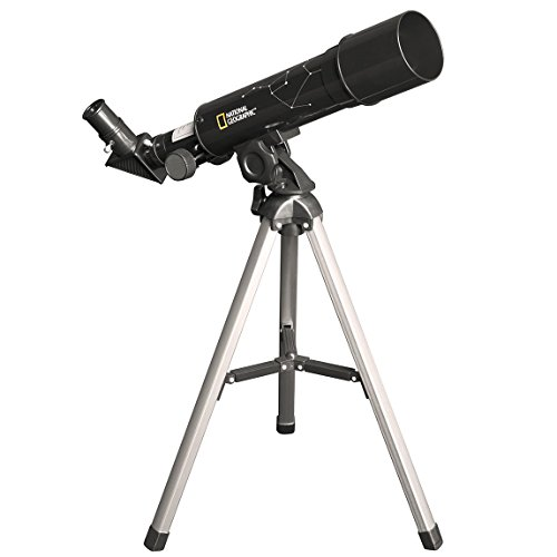 Explore Scientific National Geographic 50Mm Telescope for Kids Table Top Telescope Mount - Kids Portable Telescope with Compact Telescoping Tripod - Telescopes for Astronomy Beginners