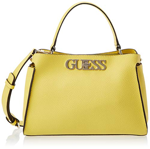 Guess Damen Uptown Chic Turnlock Satchel Klassisch, Giallo, Taglia Unica