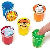 Baker Ross Mastic à bruit péteur amis de la jungle, à offrir et à glisser dans les pochettes-surprises des enfants lors des fêtes pour qu'ils jouent avec (Lot de 6).