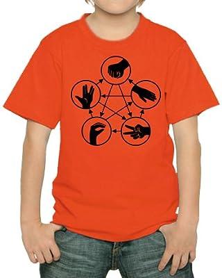 Big Bang Theory–Pierre papier ciseaux Lézard Spock T-shirt pour enfants diff. Couleur
