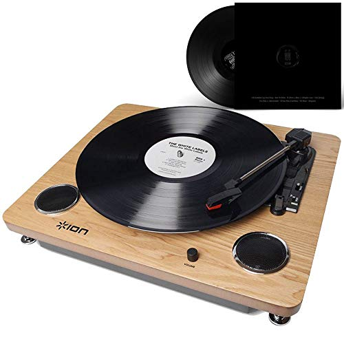 Toca-Discos Vinil Vitrola Retro Conversor Digital Via Usb e Saída Rca Alto-Falantes