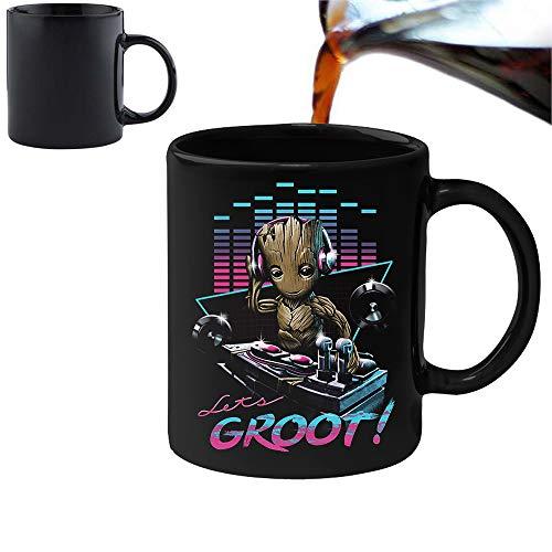DJ Groot Guardians of the Galaxy - Becher Tasse mit Farbwechsel-Effekt – Perfekt Valentines/Ostern/Sommer/Weihnachten/Geburtstag/Jahrestag Geschenk