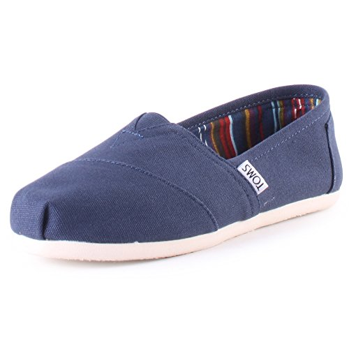 TOMS WOMEN ALPARGATA Navy Canvas UK6.5