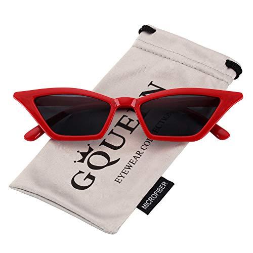 GQUEEN Gafas Vintage Clout Lentes sol tipo ojo gato
