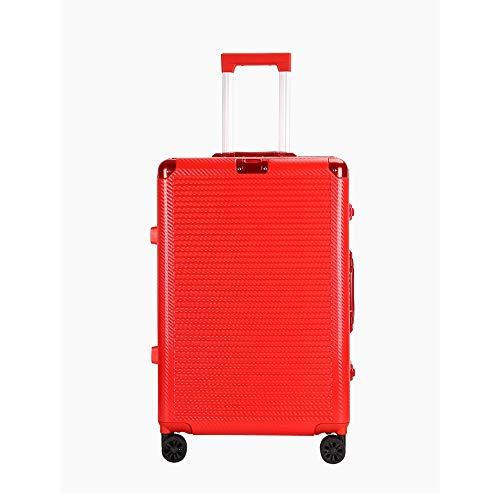 Ys-s Personalización de la tienda Boda de color rojo escarlata código de silencio de la rueda anti-desgaste carro bloqueo caso maleta transpirable universal de embarque caso, resistente al agua, resis