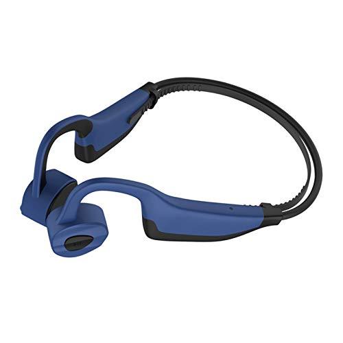 SUN JUNWEI Cuffie a conduzione ossea Lettore MP3 16 GB IP68 Auricolari Bluetooth 5.0 Impermeabili Cuffie 2 in 1 Auricolari Aperti Cuffie Senza Fili Sport Impermeabili Running Cuffie Vivavoce,Blu