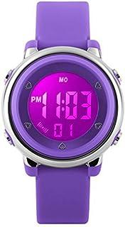 eYotto Kids Watch Girls Sport Digital Watches Waterproof 7 Colorful LED Alarm Stopwatch