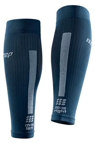 CEP – Calf Sleeves 3.0 für Damen | Beinstulpen für exakte Wadenkompression in blau/grau | Größe II - 5