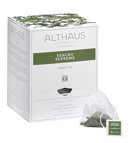 Althaus Pyra Pack Sencha Supreme 15 x 2,75g ⋅ Grüner Tee im Pyramidenbeutel