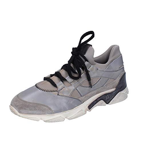 MOMA Sneakers Herren Leder grau 42 EU