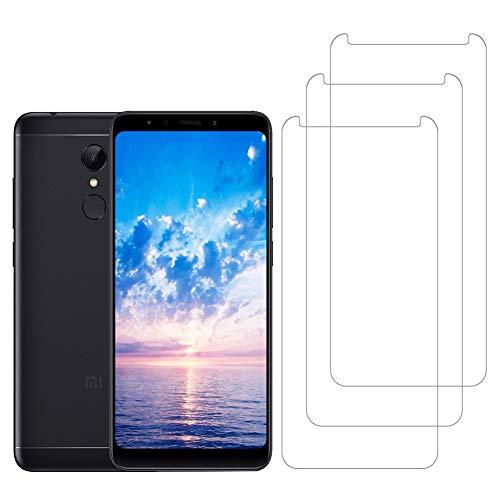 [3 Unidades] Amonke Protector de Pantalla para Xiaomi Redmi 5 Plus Cristal Templado, [9H Dureza] [Alta Definicion] [Sin Cobertura Toda Pantalla] Vidrio Templado Screen Protector para Redmi 5 Plus