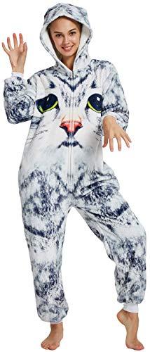 FMDD Tier Cosplay Kostüm Einhorn Cosplay Kostüm Onesie Pyjamas Erwachsene Halloween Cosplay Kostüm (3D Katze, XL(Höhe 178-195 cm))
