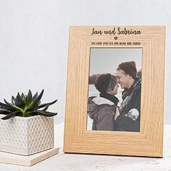 Valentinstag Geschenk für ihn - Bilderrahmen personalisiert mit Namen und Liebeserklärung - Valentinstag Geschenk für sie - Weihnachtsgeschenk für Liebespaare – Geschenk mit Herz