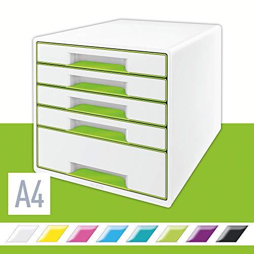 Leitz Ladekast Wow Cube 5D, Wit/Groen
