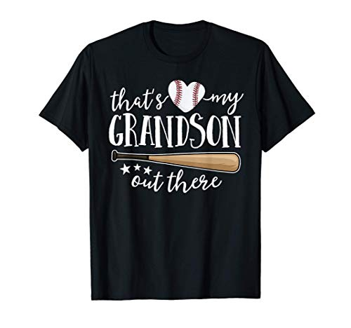 That's My Grandson Out There Gift Women Baseball Grandma T-Shirt