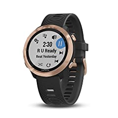 Easily download up to 500 songs to your watch, and connect with Bluetooth headphones (sold separately) for phone free listening Syncs music from select streaming services for offline listening Garmin Pay contactless payment solution lets you make con...