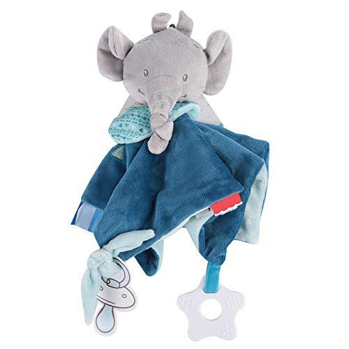 Straccetti Duoduo Bambino Comfort Coperta Accogliente Peluche Morbido Carino Asciugamano per Teether Sicurezza Calmante che Dorme Neonato Accompagnare Bambole Ragazzo Ragazza Regalo (Elephant)