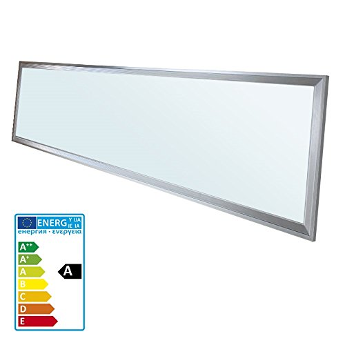 ECD Germany 1-er Pack LED Panel Deckenleuchte 42W - 120 x 30 cm - Ultraslim Dünn - SMD 3014 - Kaltweiß 6000K - 220-240 V - ca. 3010 Lumen - Deckenlampe Einbauleuchte Pendelleuchte Lampe Leuchte