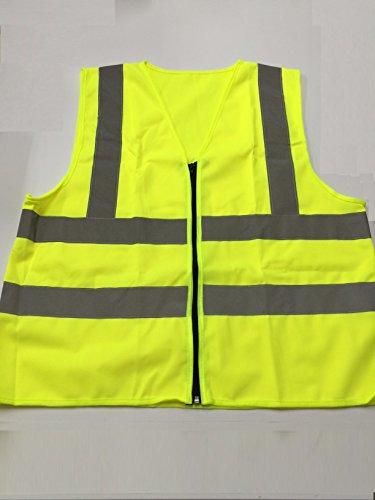 再帰 反射 高視 認証 ベスト【蛍光黄色】 ヨーロッパ規格 安全ベスト 防犯 マラソン 自転車 等 用途いろいろ