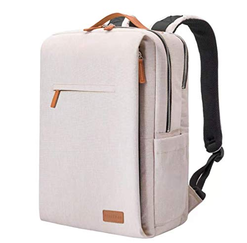 NOBLEMAN Rucksack Herren&Damen,smart Laptop Rucksack wasserdicht Schulrucksack Herren Daypack Backpack Men rucksäcke Herren Schule 15,6 Zoll Laptop Rucksack USB (beige)