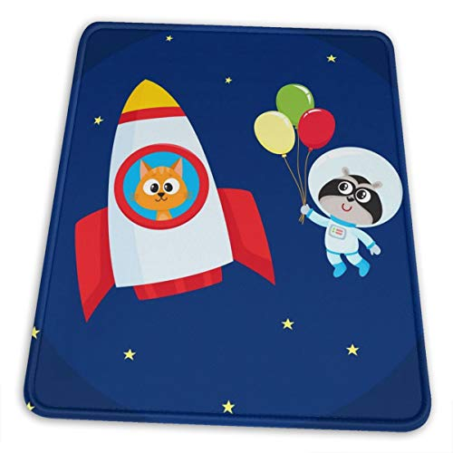 Blue Astronaut Bear Fos Balloon Themed Print Office Gaming Mouse Pad Gamer Computer Accessories Cool Mat Mousepad for Girl Boy Women Men Home Decor Ornaments Items