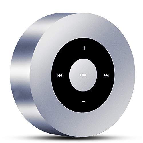 Altavoz Bluetooth con Diseño Táctil Y Altavoz Portátil con Sonido HD/Hogar 12 Horas De Tiempo Reproducción/Bluetooth 4.2 / Soporte SD Llevar Al Aire Libre iPhone/Tableta / Portátil,Silver