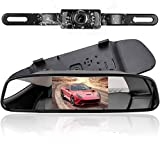 podofo Wireless Car Backup Camera with 4.3' TFT LCD RearView Mirror Monitor Reverse Camera Night Vision