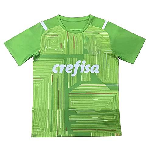 Camisetas de Portero de fútbol Camiseta Portero Domicilio para Hombre Deportes Ropa Chándales Sudaderas Equipamiento de fútbol para Entrenar y Jugar 2021 Palmeiras,Green,XL