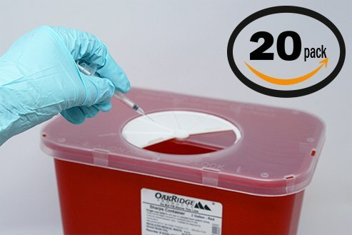Oakridge 2 Gallon Sharps Container (20 Pack) Rotor lid | Physician Business Bundle | Full case