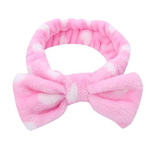 Dorical Diadema Moda Para Mujer Elástico Coral Vellón Bow-knot Sencillas Chicas Dulces Estilo Lindo Máscara De Maquillaje Banda Para El Cabello Headwear Accesorio