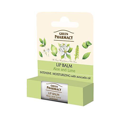 Elfa Pharm Green Pharmacy Baume à Lèvres Hydratant Intense à l'aloe et au Lime SPF10 4 g