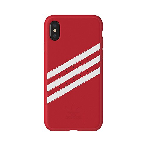adidas Originals Stripes Case Handyhülle für Apple iPhone X - Rot/Weiß Red/White